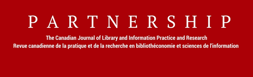 Partnership: The Canadian Journal of Library and Information Practice and Research logo